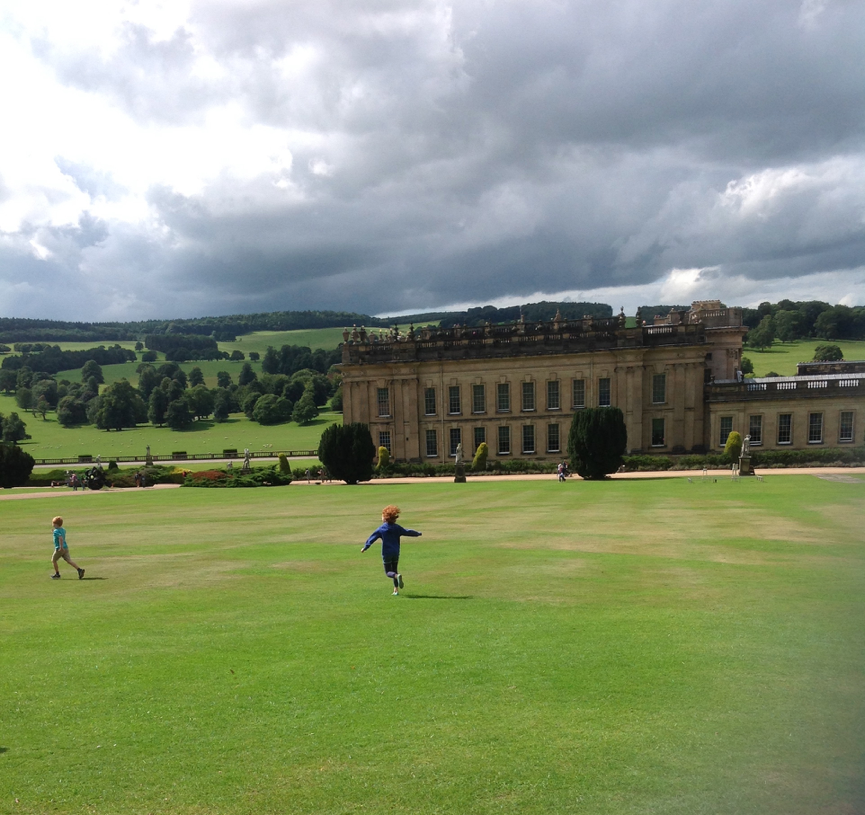 Chatsworth House near Curlew Cottage, Peak District